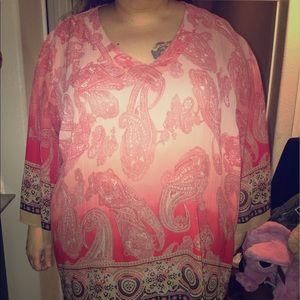 Tops - Beautiful pink pattern blouse